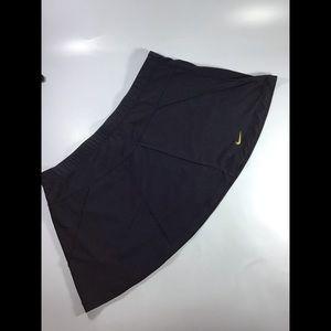 Women's black nike tennis skirt gold swish large